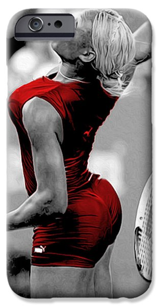 Venus Williams iPhone 6s Case - Red Cat Suit by Brian Reaves