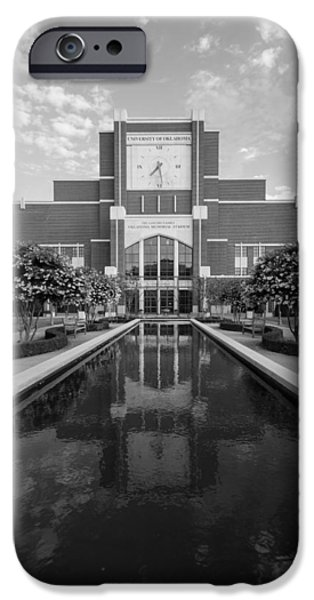 Reflecting Pond Outside Of Oklahoma Memorial Stadium IPhone 6s Case by Nathan Hillis
