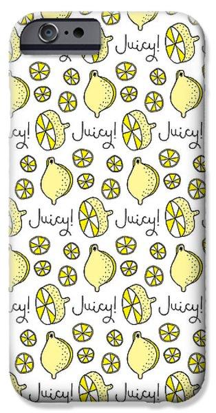 Repeat Prtin - Juicy Lemon IPhone 6s Case by Susan Claire