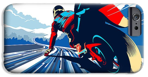 Motorcycle iPhone 6s Case - Riding On The Edge by Sassan Filsoof