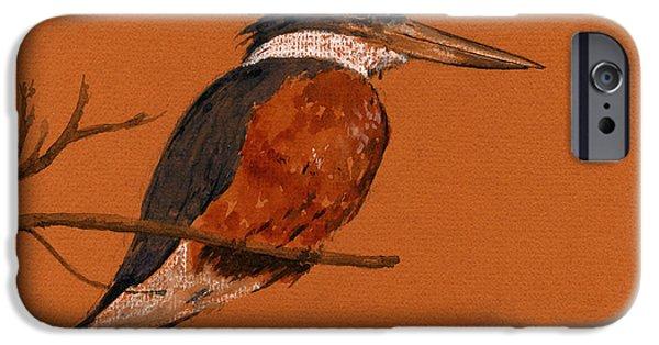 Ringed Kingfisher Bird IPhone 6s Case by Juan  Bosco
