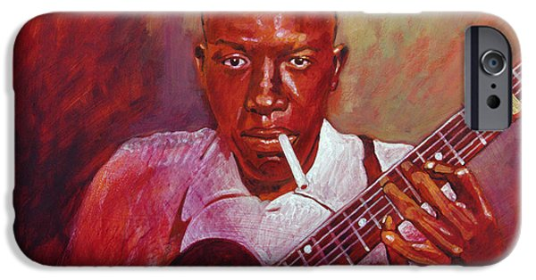 Robert Johnson Photo Booth Portrait IPhone 6s Case by David Lloyd Glover