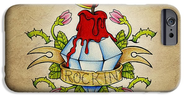 Color Pencil iPhone 6s Case - Rockin' by Samuel Whitton