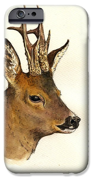 Roe Deer Head Study IPhone 6s Case by Juan  Bosco