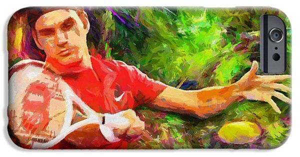 Tennis iPhone 6s Case - Roger Federer by RochVanh