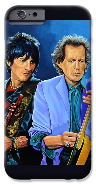Musicians iPhone 6s Case - Ron Wood And Keith Richards by Paul Meijering
