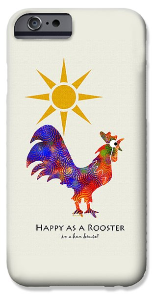 Rooster Pattern Art IPhone 6s Case by Christina Rollo