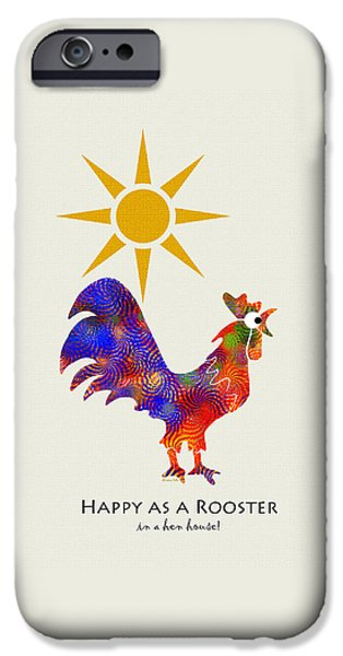 Rooster Pattern Art IPhone 6s Case