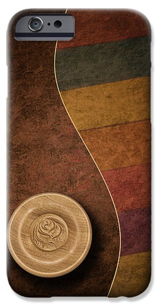 Rose Button IPhone Case by Tom Mc Nemar