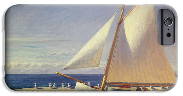 Boat iPhone 6s Case - Sailing Boat by Edward Hopper