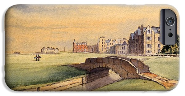 Saint Andrews Golf Course Scotland - 18th Hole IPhone 6s Case by Bill Holkham