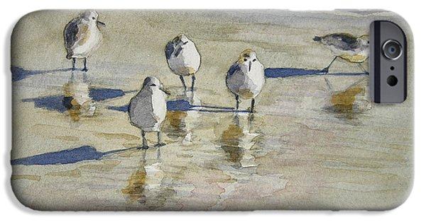 Sandpiper iPhone 6s Case - Sandpipers 2 Watercolor 5-13-12 Julianne Felton by Julianne Felton