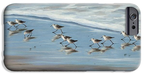 Sandpiper iPhone 6s Case - Sandpipers by Tina Obrien