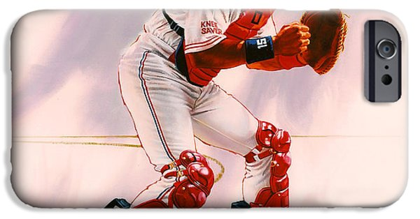 New York Mets iPhone 6s Case - Sandy Alomar by Dick Bobnick