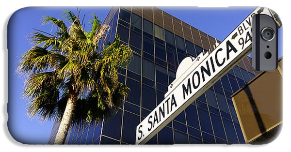 Beverly Hills iPhone 6s Case - Santa Monica Blvd Sign In Beverly Hills California by Paul Velgos