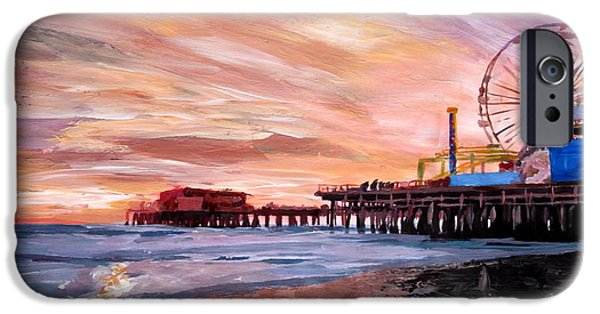 Santa Monica iPhone 6s Case - Santa Monica Pier At Sunset by M Bleichner