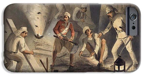 Sappers At Work In The Batteries IPhone Case by British Library