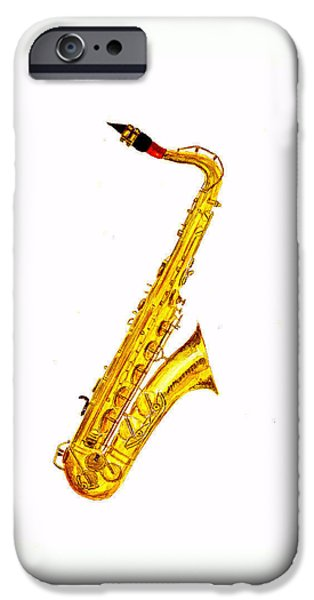 Saxophone IPhone 6s Case by Michael Vigliotti