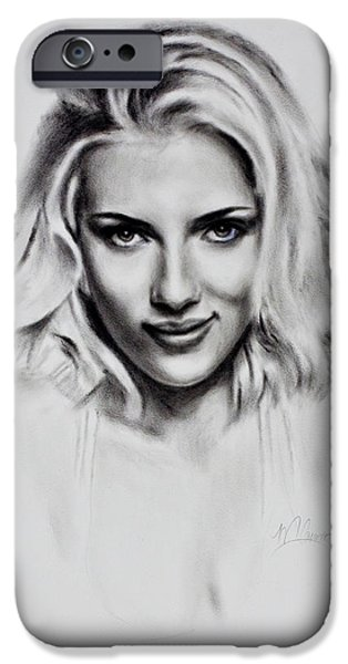 Scarlet iPhone 6s Case - Scarlet Johansson by Mark Courage