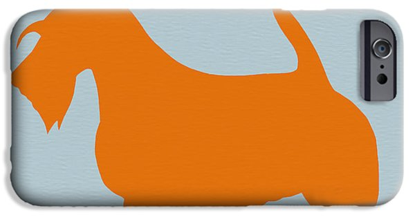 Scottish Terrier Orange IPhone Case by Naxart Studio
