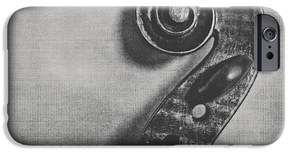 Violin iPhone 6s Case - Scroll In Black And White by Emily Kay