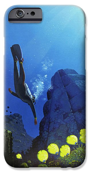 Scuba Diving iPhone 6s Case - Scuba Diving by Mark Garlick/science Photo Library