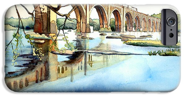 Train iPhone 6s Case - Seaboard Bridge Crossing The James  by Jim Smither