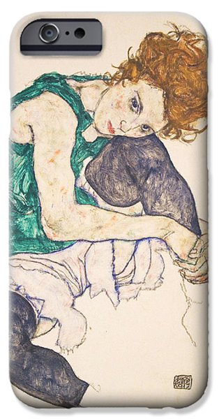 Seated Woman With Legs Drawn Up. Adele Herms IPhone 6s Case by Egon Schiele