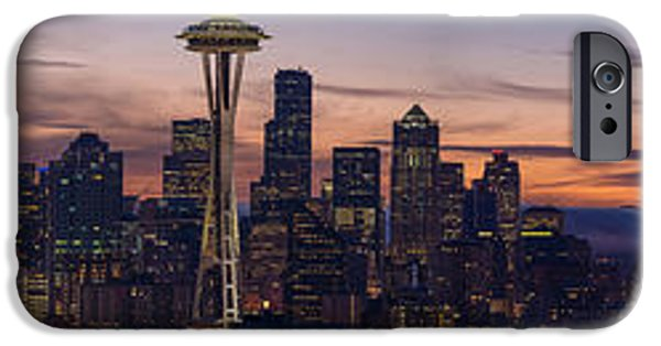 Seattle Cityscape Morning Light IPhone 6s Case by Mike Reid