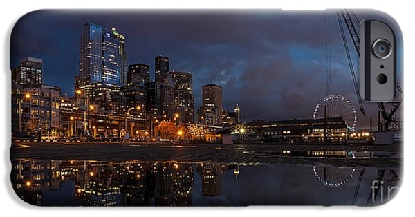 Seattle Night Skyline IPhone 6s Case by Mike Reid