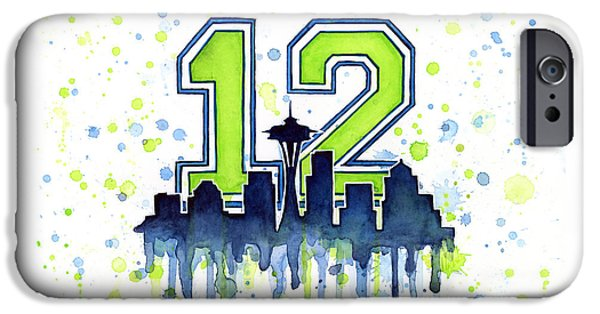 Seattle Seahawks 12th Man Art IPhone 6s Case