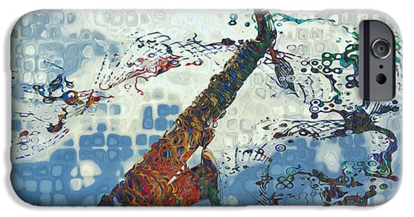 Saxophone iPhone 6s Case - See The Sound 2 by Jack Zulli