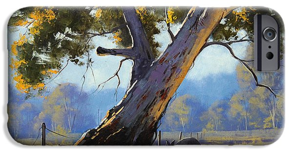 Kangaroo iPhone 6s Case - Shady Tree by Graham Gercken