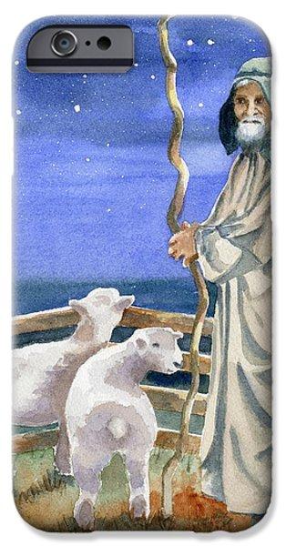 Sheep iPhone 6s Case - Shepherds Watched Their Flocks By Night by Marsha Elliott
