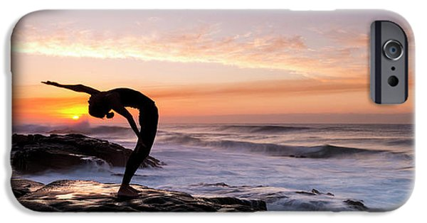 Yoga iPhone 6s Case - Silhouette Of A Woman Practicing Yoga by Panoramic Images