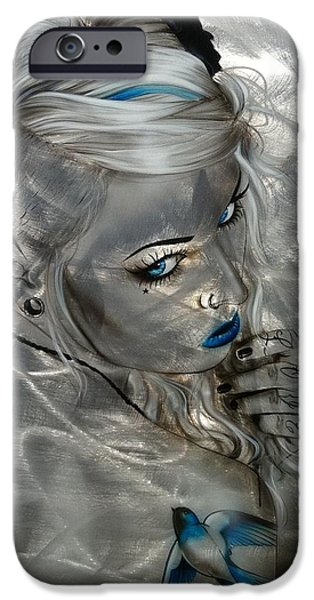 Swallow iPhone 6s Case - Silver Flight by Christian Chapman Art