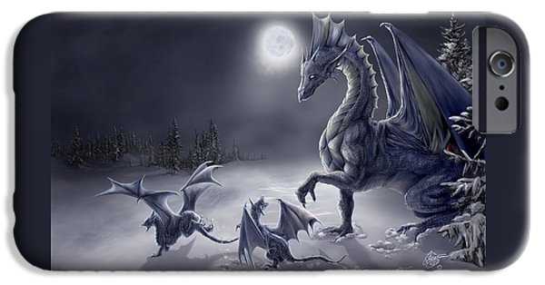 Dragon iPhone 6s Case - Snow Day by Rob Carlos