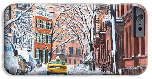 Cities iPhone 6s Case - Snow West Village New York City by Anthony Butera