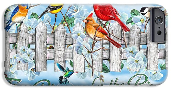 Cardinal iPhone 6s Case - Songbirds Fence by JQ Licensing
