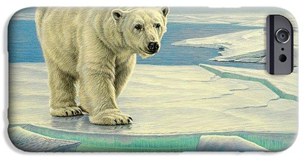 Polar Bear iPhone 6s Case - Spring Break by Paul Krapf