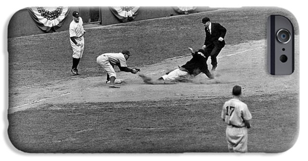 Spud Chandler Is Out At Third In The Second Game Of The 1941 Wor IPhone 6s Case by Underwood Archives