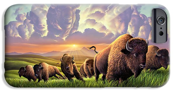 Bison iPhone 6s Case - Stampede by Jerry LoFaro