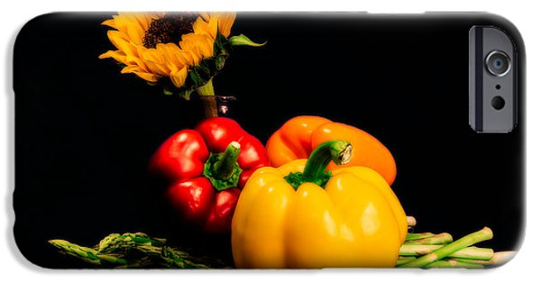 Still Life Peppers Asparagus Sunflower IPhone 6s Case by Jon Woodhams