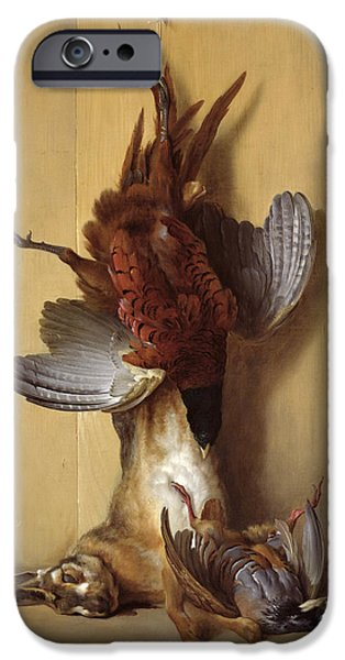 Still Life With A Hare, A Pheasant And A Red Partridge IPhone 6s Case by Jean-Baptiste Oudry