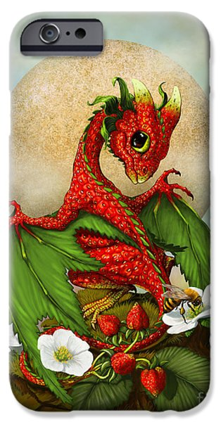 Dragon iPhone 6s Case - Strawberry Dragon by Stanley Morrison