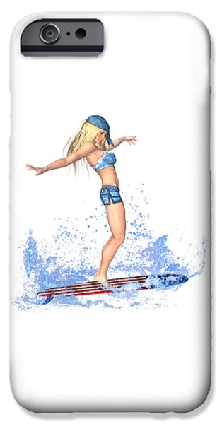 Surfing Girl IPhone 6s Case by Renate Janssen