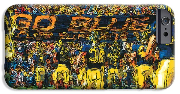 University Of Michigan iPhone 6s Case - Take The Field by John Farr