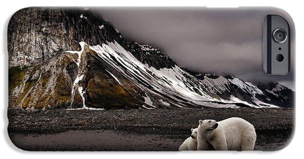 Polar Bear iPhone 6s Case - Tenderness by Mathilde Collot