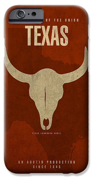 Texas State Facts Minimalist Movie Poster Art  IPhone 6s Case