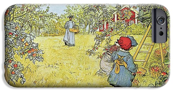 Rural Scenes iPhone 6s Case - The Apple Harvest by Carl Larsson